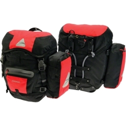 Axiom Modular Grand Tour 30 Pannier Set: Red/Black