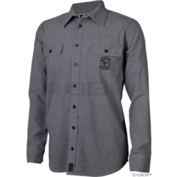 The Shadow Conspiracy Crossbones Button Up Shirt: Gray