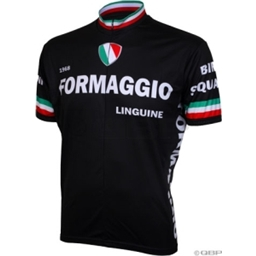World Jerseys 1968 Formaggio Cycling Jersey: Black