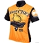 World Jerseys Biker Chick Cycling Jersey: Orange LG