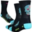 "DeFeet Aireator 5"" Sugarskull Sock: Black/Blue"