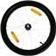 """Burley Replacement Wheel: 20"""", Alloy, Push Button Axle"""