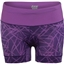 "Zoot Women's Performance Tri 4"" Cycling Short: Black/Purple Haze Static"