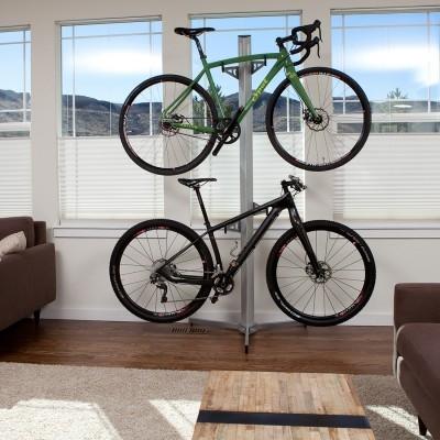 Feedback Sports Velo Cache 2 Bike Storage Rack Silver