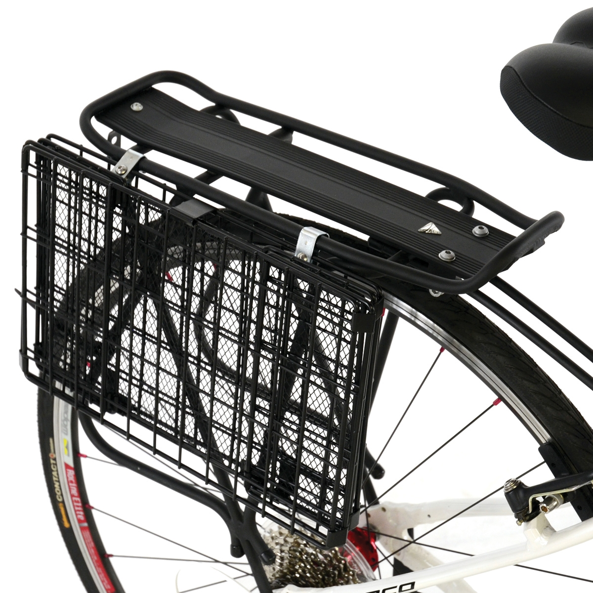 Axiom Rear Wire Folding Basket Black Modern Bike