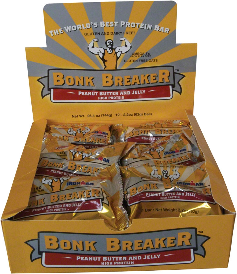 ... Breaker Energy Bar: Peanut Butter and Jelly - High Protein; Box of 12