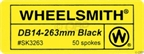 Wheelsmith Butted 2.0/1.7mm Black Spokes