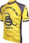 World Jerseys Don't Tread on Me Cycling Jersey: Yellow/Gray
