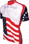 World Jerseys U.S. Constitution Cycling Jersey: Red/White/Blue